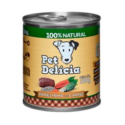 Ração Úmida Pet Delícia Para Cães Adultos Sabor Carne 320 g