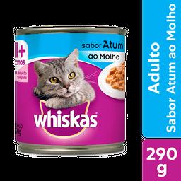 Ração Úmida Whiskas Lata Para Gatos Adultos Sabor Atum Ao Molho