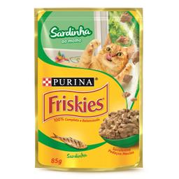 Ração Úmida Friskies Sachet Gatos Adultos Sardinha Ao Molho 85 g