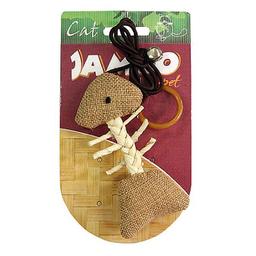 Brinquedo Jambo Gatos Natural Peixe Bege