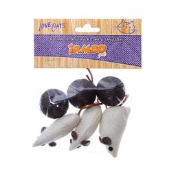 Brinquedo Cat Ratinho Bola Pack Jambo Para Gatos 6 Und