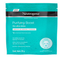 Máscara Facial Hydrogel Neutrogena Purifying Boost 30 g