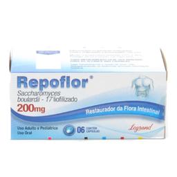 Legrand Repoflor 200mg Antidiarreico Com 6 Capsulas