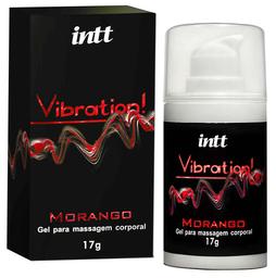 Intt Vibration! Gel que Vibra, Pulsa e Esquenta - Morango