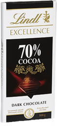 Barra De Chocolate Amargo 70% Cacau Lindt Excellence Dark 100 g