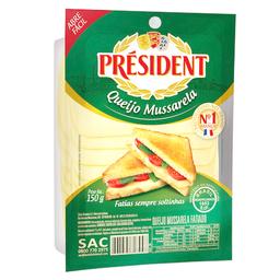 Queijo Mussarela Fatiado President 150 g