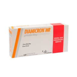 Diamicron Mr 60 mg Servier 60 Comprimidos De Prolongada