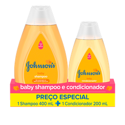 Shampoo Johnson & Johnson 400 Ml + Condicionador Johnson & J