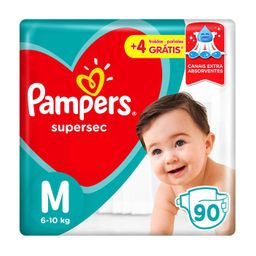 60% na 2 Unid Fralda Pampers Supersec Ta