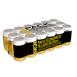 Pack Promo Cerveja Skol Puro Malte 350 ml Lata 18 unidades