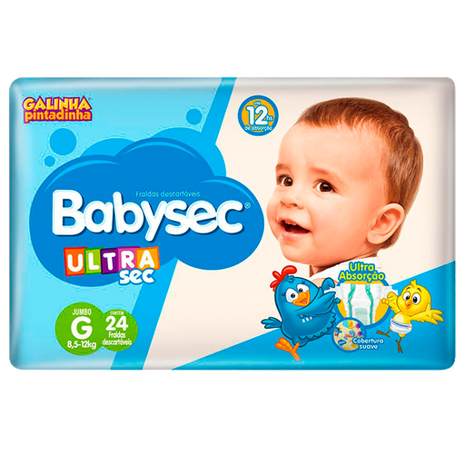 Fralda Babysec Galinha Pintadinha Ultrasec G 24 Unids