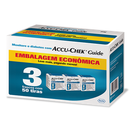 Kit Tiras De Glicemia Accuchek Guide Economy 150 Und