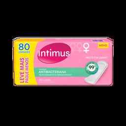 Absorvente Intimus Protetor Diário Antibacteriano 80 Und