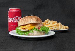 111 - Frango Com Queijo + Batata Frita + coca-cola 350ml
