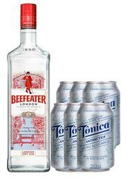 Combo Gin Beefeater + 6 Tônicas Zero