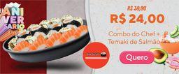 Combo Temaki de Salmão e Sushi do Chef