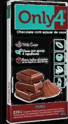 Chocolate 70% Cacau Puro Only4 80 g