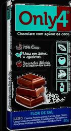 Chocolate 70% Cacau Flor De Sal Only4 80 g