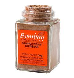 5 Especiarias Chinesas Bombay Vidro 50 g