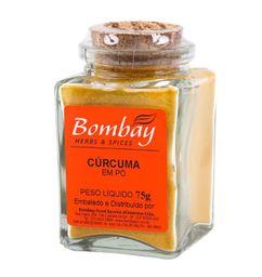 Cúrcuma Pó Bombay Vidro 75 g