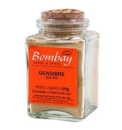 Gengibre Pó Bombay Vidro 60 g