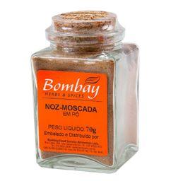 Noz Moscada Pó Bombay Vidro 70 g