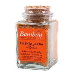 Pimenta Caiena Pó Bombay Vidro 60 g