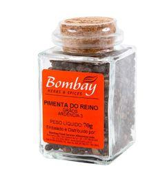 Pimenta Do Reino Grão Bombay Vidro 70 g