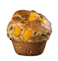 Muffin de Cheddar e Bacon