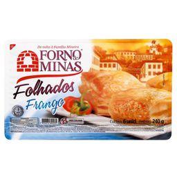 Folhado Frango Forno De Minas