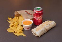 Burrito e Refrigerante - 350ml com Molho e Nacho - Grátis