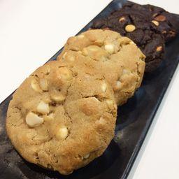 2x Chocolate Duplo - 2x Macadâmia e Chocolate Branco
