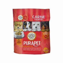 Alimento Premium Carne Cozido Para Cães Filhotes Pura Pet 1 Kg