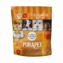 Alimento Premium Frango Cozido Para Cães Filhotes Pura Pet 1 Kg