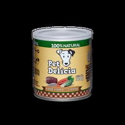 Ração Úmida Pet Delícia Para Cães Adultos Sabor Carne