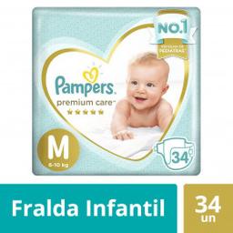 Pampers Fraldas Premium Care M Com 34 Unidades