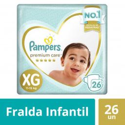 Pampers Fraldas Premium Care Xg Com 26 Unidades