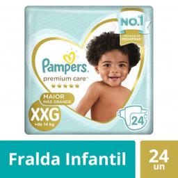Pampers Fralda Premium Care Mega Xxg Com 24 Und