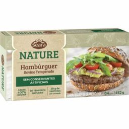 Hamburguer Temperado Seara Nature 452G