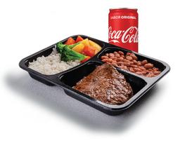 Bife Grelhado e Refrigerante Lata - 220ml