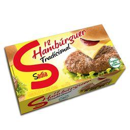Hambúrguer Tradicional Sadia - 12 Unidades