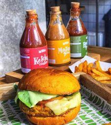 Veggie: Burger e Batata as Originais com Refri - 350ml