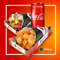 2 Temakis e 1 Refri - 220ml - 30% Off