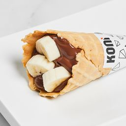 Koni de banana com Nutella