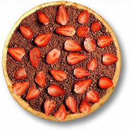 Pizza de Chocolate com Morango - 25cm