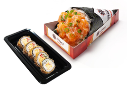 Temaki com Meio Hot Roll e Refri - 30% Off