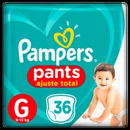 Fralda Pampers Pants Ajuste Total G 36 unidades
