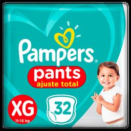 Fralda Pampers Pants Ajuste Total XG 32 unidades