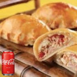 1 Fogazza salgada qualquer sabor+ 1 coca cola lata 350ml