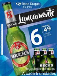 6x Cerveja Becks Puro Malte 330 mL